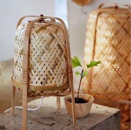 ikea bamboo lamps