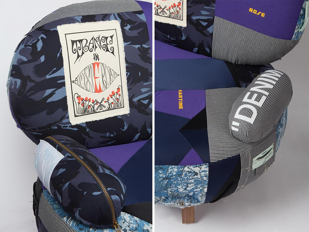 upcycled high fashion chairs