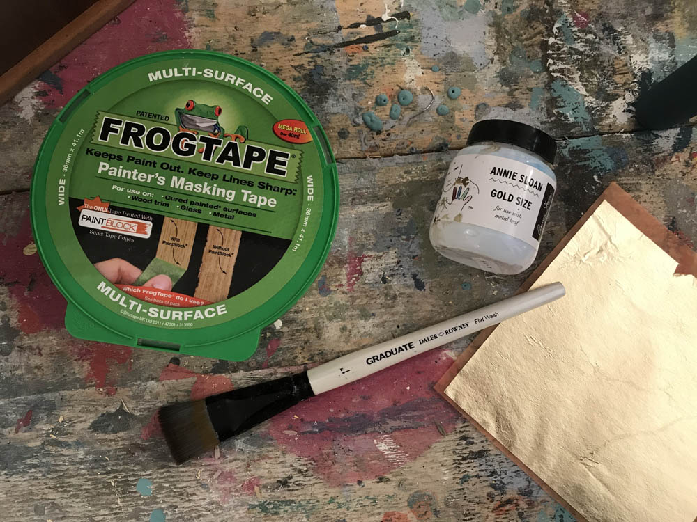 how to create metallic painted furniture
