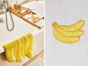 banana bathmat
