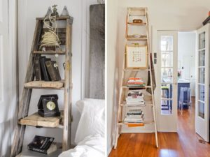 upcycled ladder shelf ideas