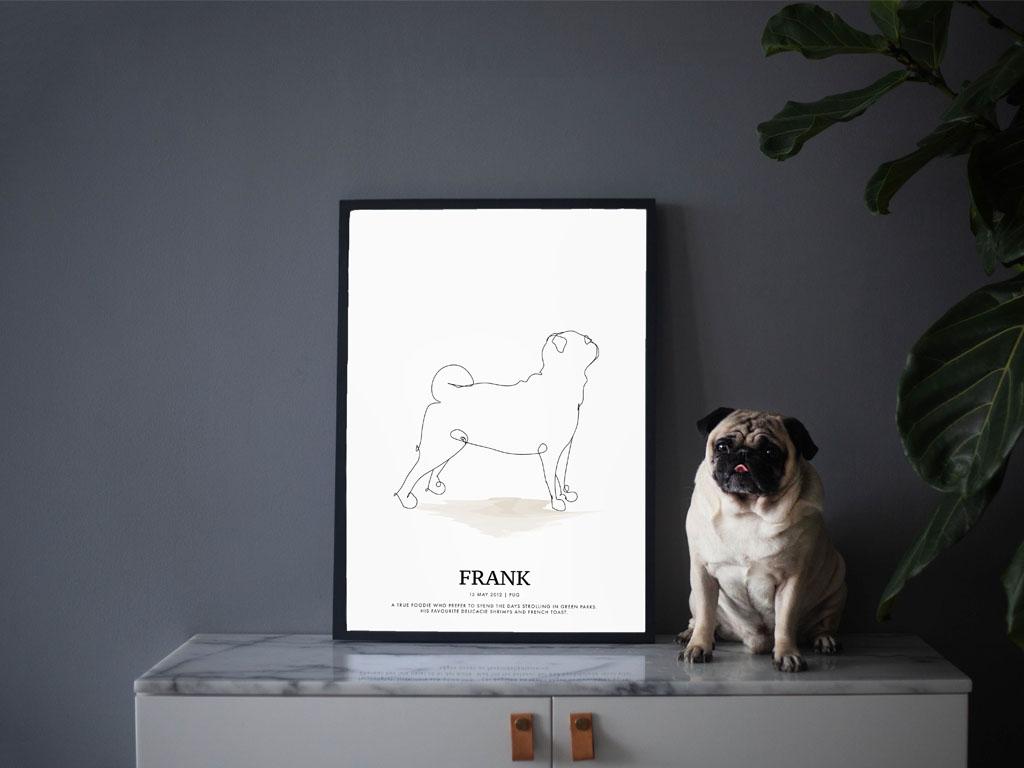 minimalist pet posters