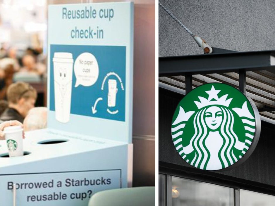 starbucks reusable cup trial