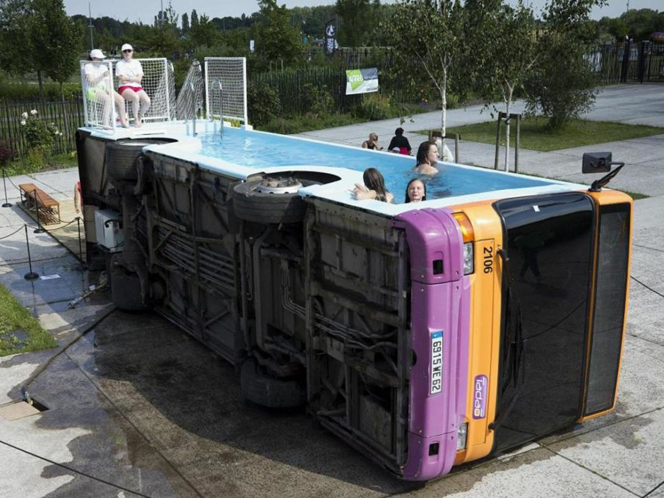 swimming pool bus