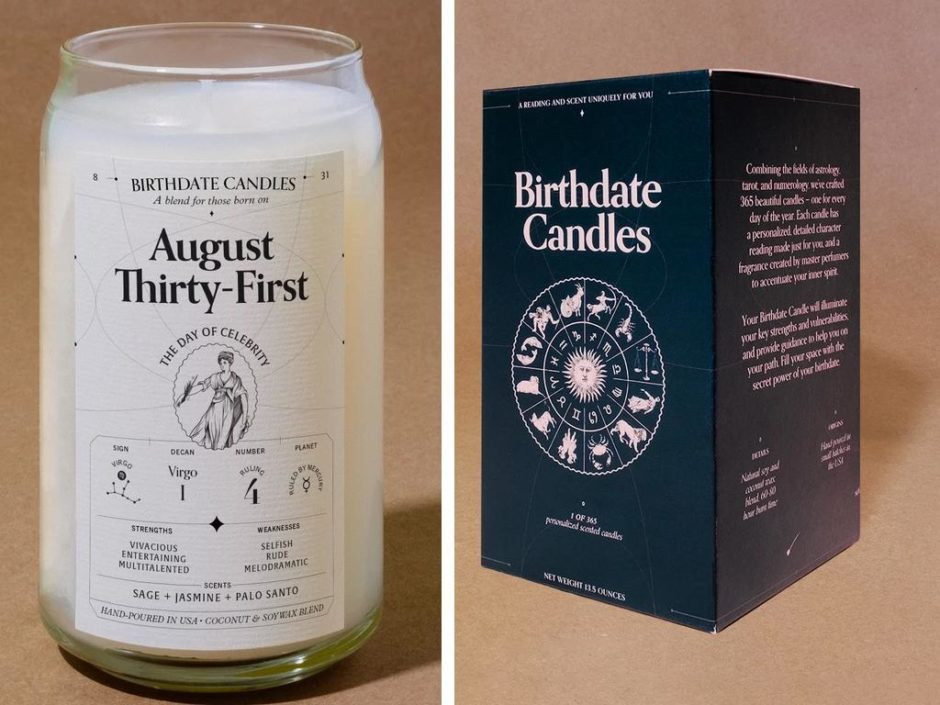 birthdate candle collection