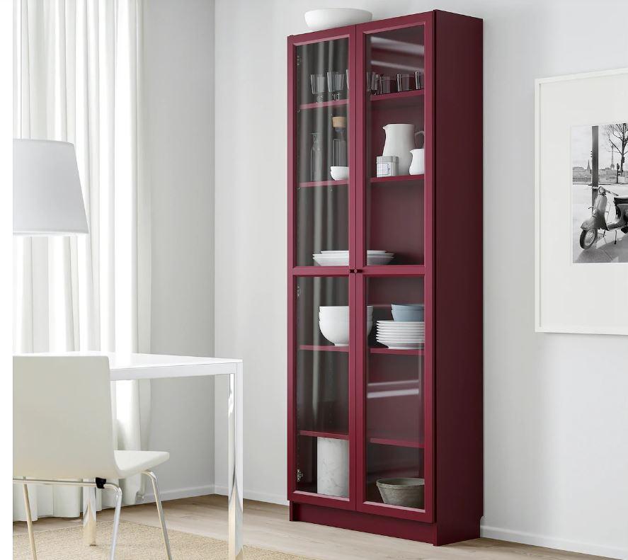 dark red billy bookcase ikea autumn winter 2019
