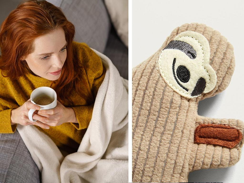 heatable sloth plushie