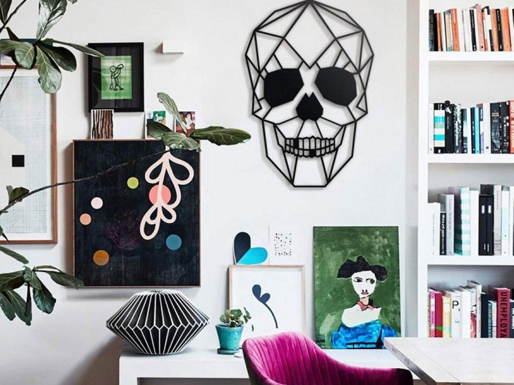 modern halloween decor