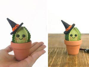 halloween felt cactus decorations