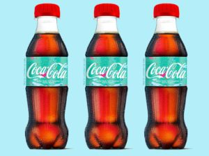 Coca Cola recycled bottles