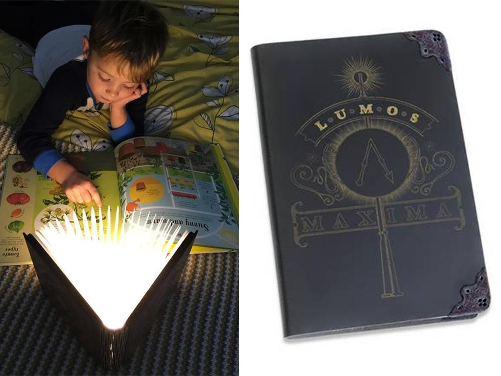 harry potter magic book lamp