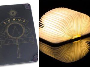 harry potter magic book lamp
