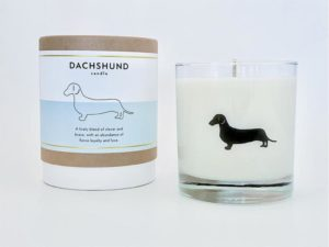 scripted fragrance dog candles