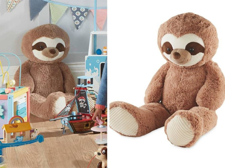 giant aldi sloth teddy