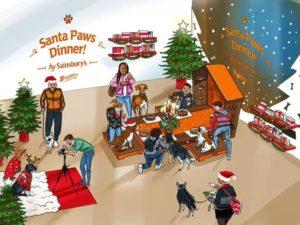 sainsburys christmas popup dog restaurant