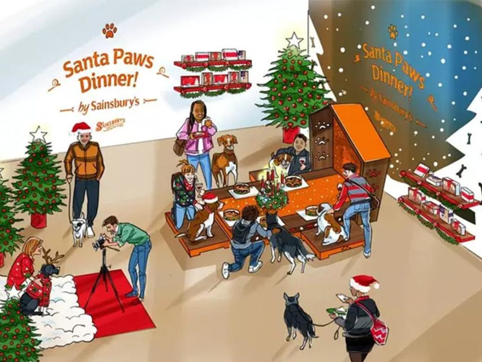 sainsburys christmas popup dog restaurant