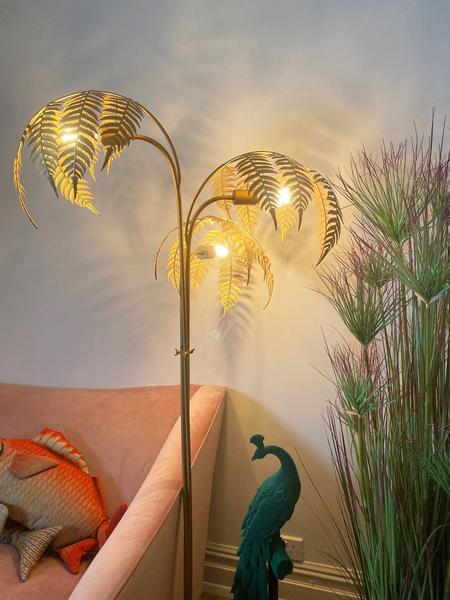 olivia sage leaf floor lamp