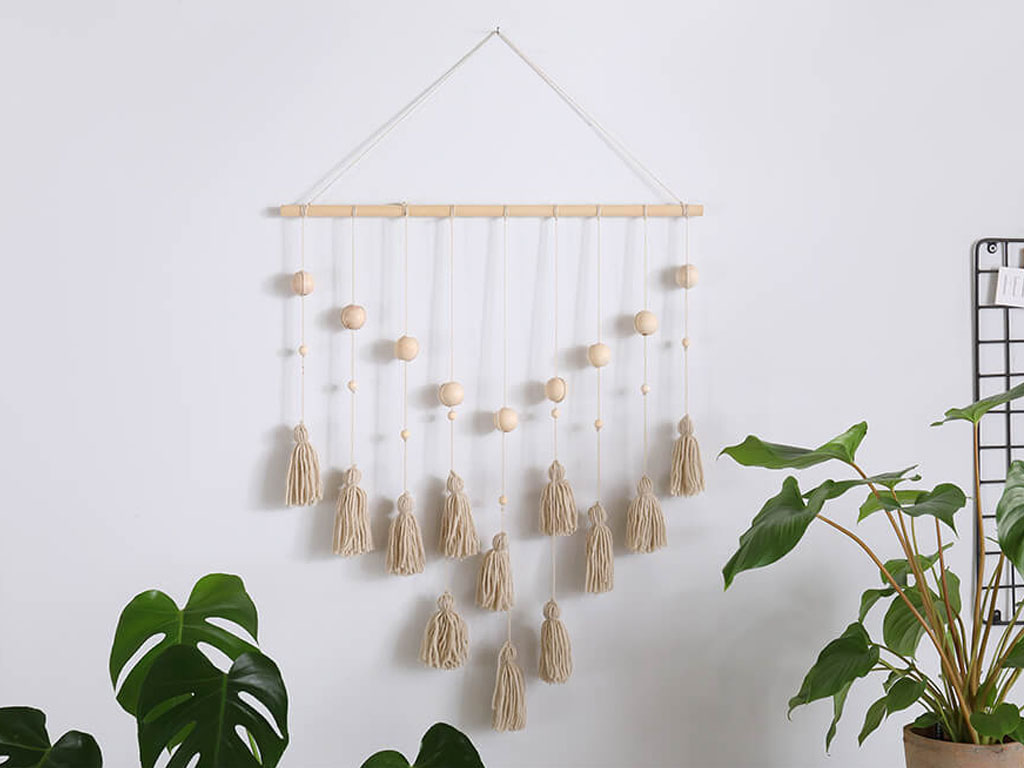 diy wall tassle hanging