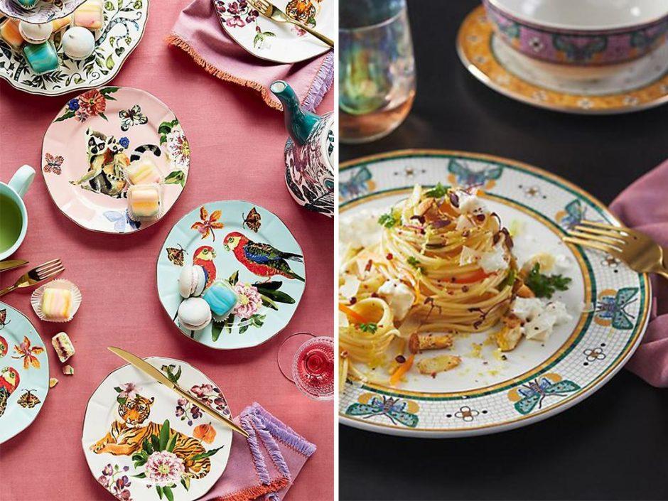anthropologie spring dinnerware collection