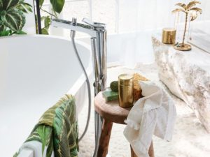 H&M's New Bathroom Line Has Arrived To Help Homes Enjoy a Slice Of Tropical Living