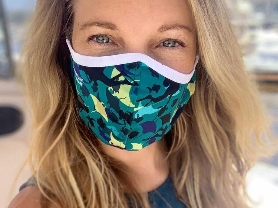 ocean plastic face masks