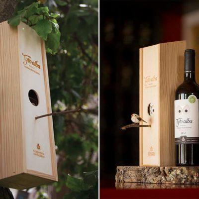 tyto alba birdhouse wine
