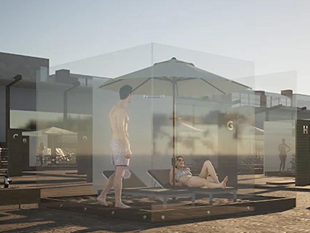 plexiglass beach boxes