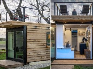 Ever Considered Living In a Double-Decker Home Made From a Recycled Shipping Container?