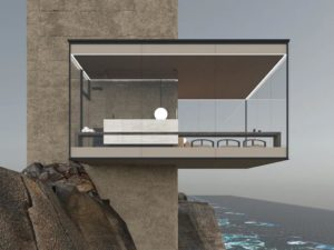 Explore This Sustainable Minimalist Dream Home Hovering Dangerously Over a Cliff Edge