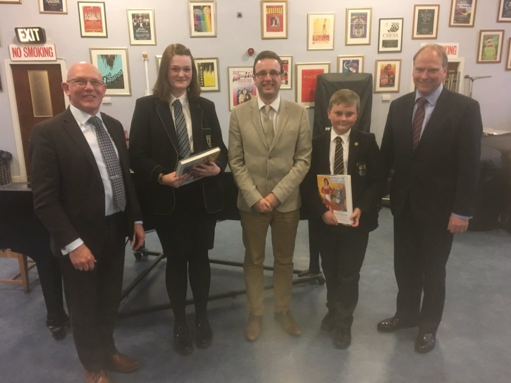 2018 Gold Winners Eve Finnan of Morgan Academy and Ryan Kilburn of the High School of Dundee