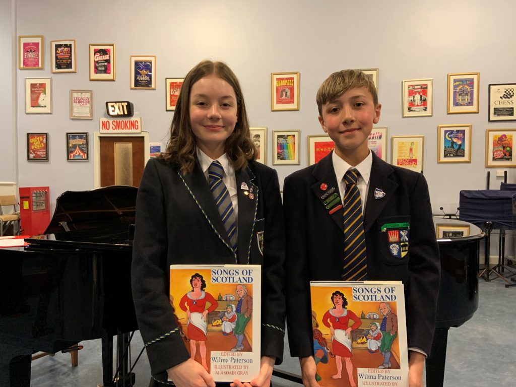 2019 Gold winners - Molly Dickson of Morgan Academy and Nathan Ogston - High School of Dundee (Juniors)