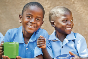 Mary's Meals help many young learners Pic: Chris Watt