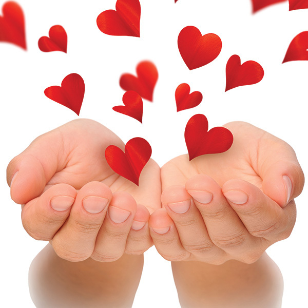 Hands holding heart shapes Pic: Istockphoto