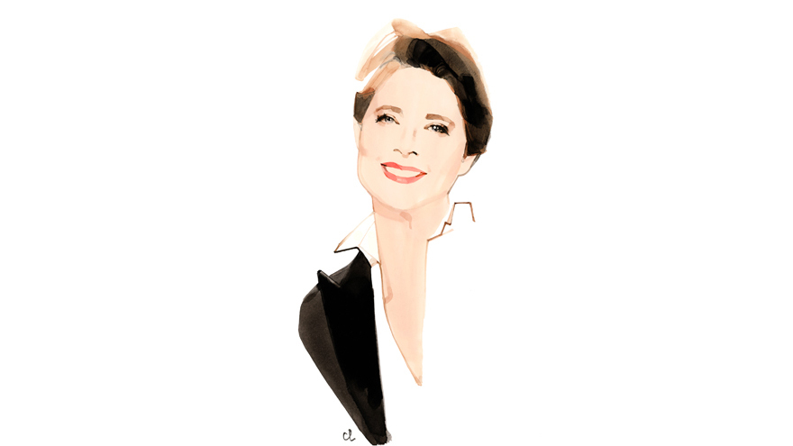 Isabella Rossellini Illustration: © Marc-Antoine Coulon for Lancôme