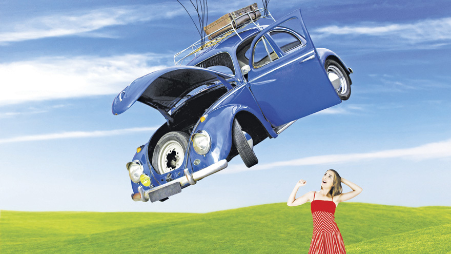Could a car really turn back time? Pic: Alamy
