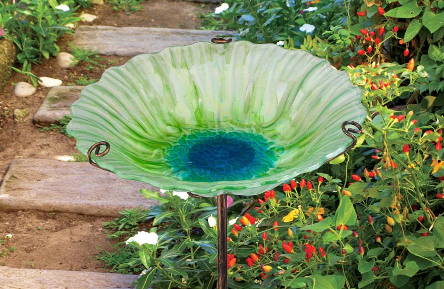Glass Bird Bath/Feeder - £24.99 at Squire's Garden Centres