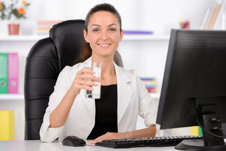 Swap coffee for water in the office Pic: Rex/Shutterstock
