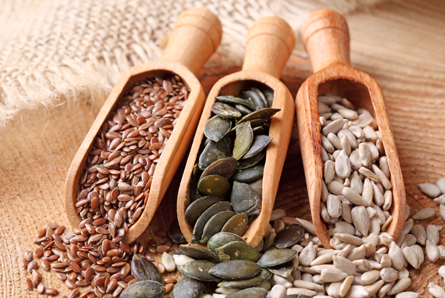 Nuts and seeds are a healthy snack Pic: Rex/Shutterstock