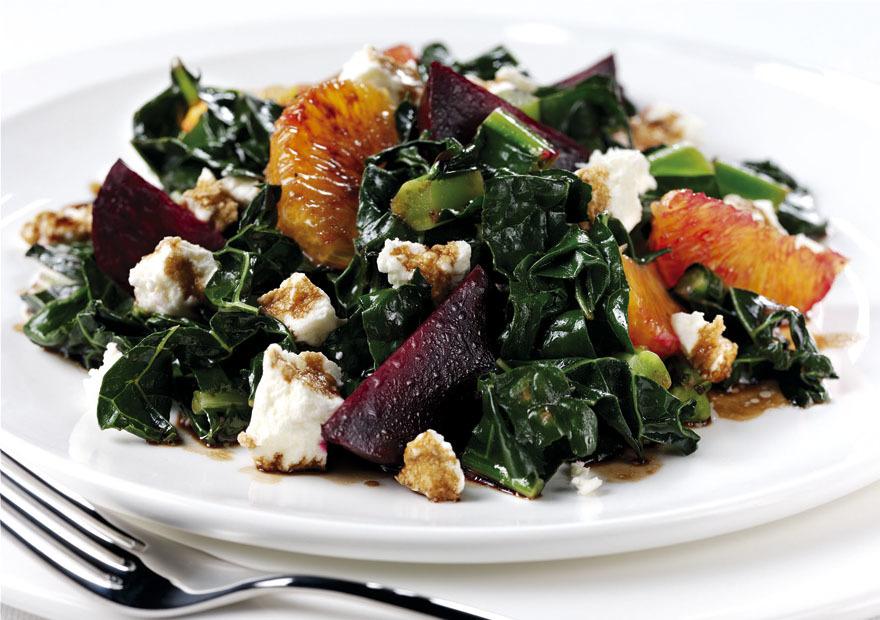 Cavolo nero, beetroot and orange salad