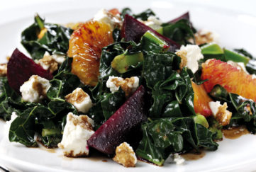 Kale, beetroot and orange salad