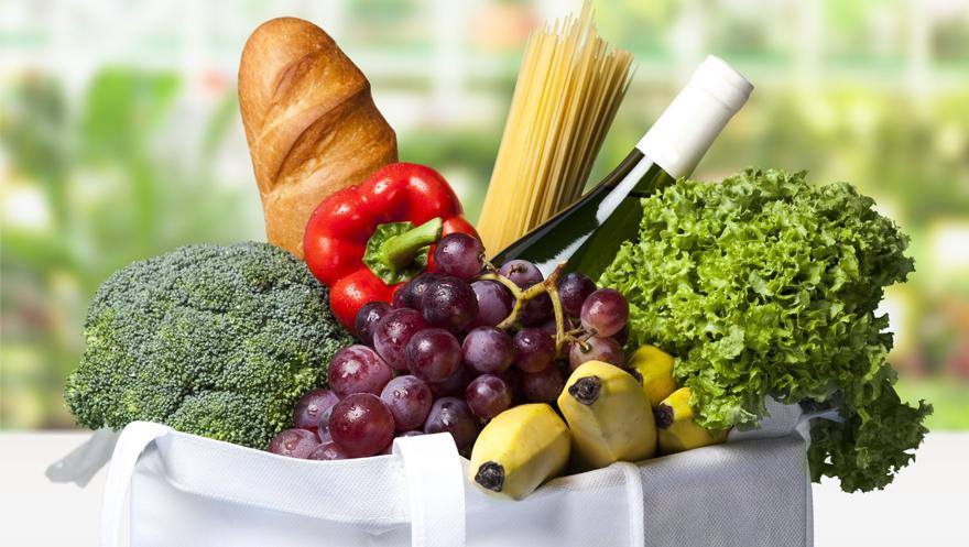 Groceries in a sturdy bag Pic: Rex/Shutterstock