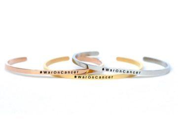 #WarOnCancer bracelets