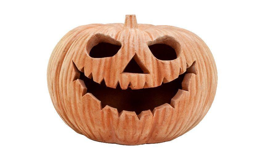 Dobbies terracotta pumpkin ornament