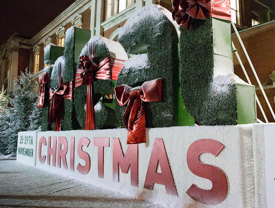 Christmas Ideal Home Show entrance