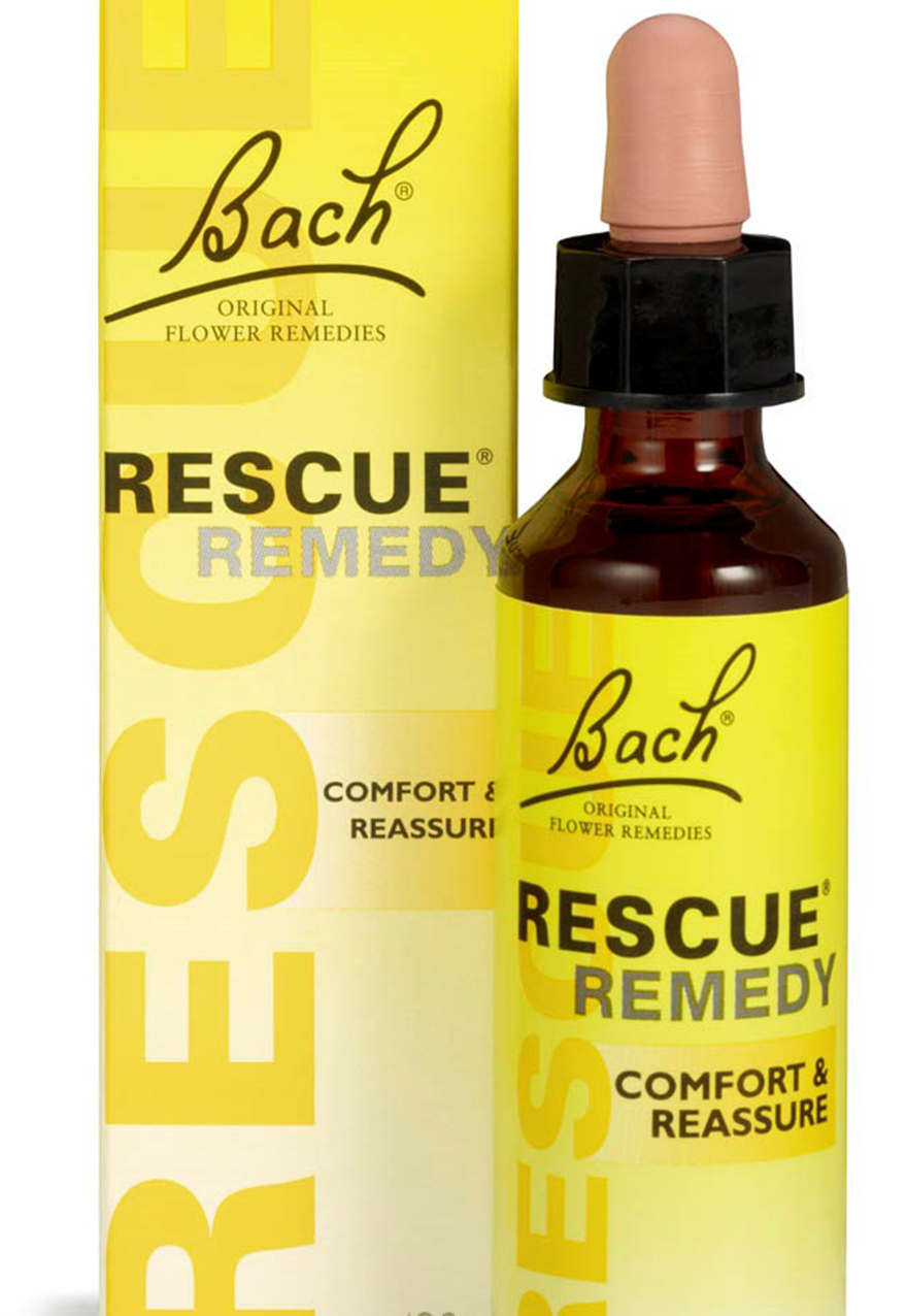 A dropper bottle of Bach Flowers Rescue Remedy