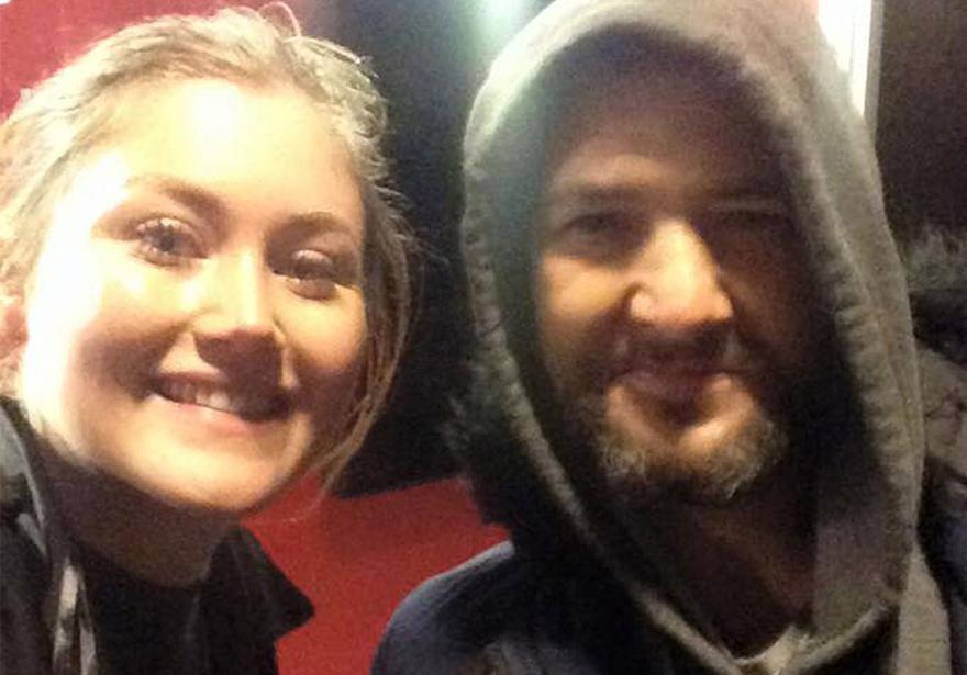 Selfie of Nicole Sedgebeer and Mark, her good Samaritan