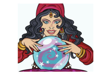 cartoon of fortune teller