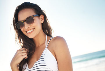 Shot of a young woman at beach. Pic:istockphoto
