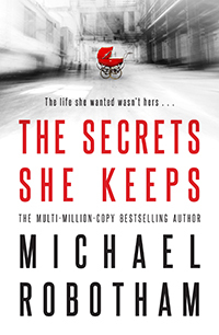 the secrets she keeps cover showing red pram on grey background