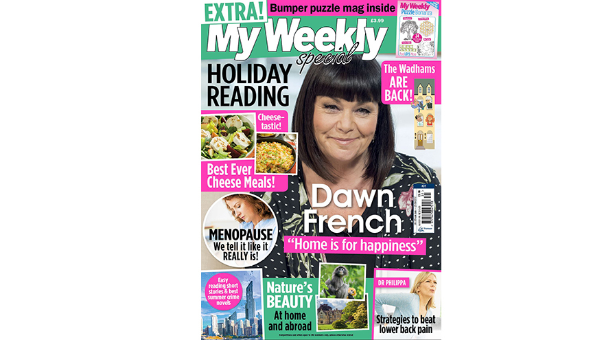 My Weekly Holiday Reading cover featuring Dawn French
